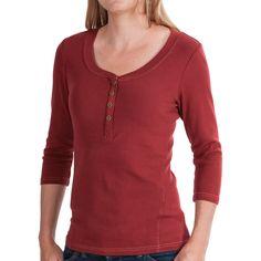 Royal Robbins Kickback Micro-Rib Henley Shirt (For Women) - Save 37%