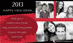 New Year 2013 Greeting Ecards.