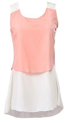 Orange Sleeveless Lace Round Neck Vest Would make a cute tennis dress design