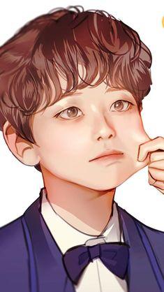 Kpop Drawings, Cute Drawings, Gay Aesthetic, Fan Art, Aesthetic Stickers, Kpop Fanart, Chinese Art, My Sunshine, Webtoon