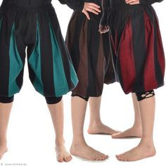 Short Medieval Trousers - double color