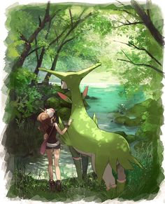 Hilda with some grass type legendary pokemon Latios Pokemon, Guzma Pokemon, Black Pokemon, Pokemon Comics, Pokemon Stuff, Fan Art Pokemon, The Beast, Pokemon Images, Pokemon Pictures