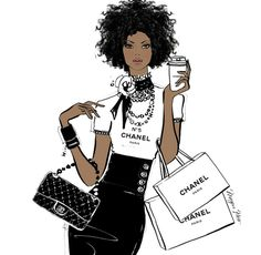 Fashion Sketches Hair Megan Hess 41 Ideas For 2019 Black Girl Art, Black Women Art, Black Girl Magic, Art Girl, Black Art, Megan Hess Illustration, Illustration Blume, Coffee Illustration, Foto Fashion