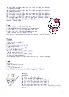 Hello kittya Crochet Bunny Pattern, Crochet Patterns, Hello Kitty Items, Crochet Keychain, Amigurumi Toys, Crochet Animals, Crochet Dolls, Doll Patterns, Valentine Gifts