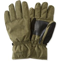 L.L.Bean Baxter State Gloves (59 AUD) ❤ liked on Polyvore featuring men's fashion, men's accessories, men's gloves, mens waterproof gloves, mens leather accessories, mens gloves and mens leather gloves
