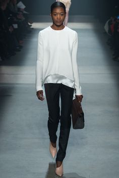 Narciso Rodriguez | Fall 2014 - Stunning proportions. I want blush shoes.