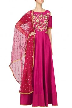 Breathe By Aakanksha And Nupur  Pink Anarkali Gown and Dupatta Set #happyshopping #shopnow #ppus