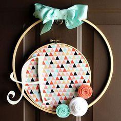 simple spring hoop wreath, crafts, wreaths