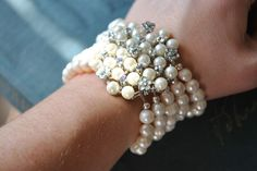 Freshwater Pearl Statement Bracelet by SarahWhiteJewelry on Etsy, $38.00