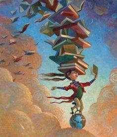 Ilustración María GranPre Hai poucos centros de infantil nos que chegado o momento de organizar a biblioteca escolar non tiveran o debate sobre si deben seguir existindo as bibliotecas de aula. I Love Books, My Books, Reading Art, Reading Books, Free Reading, World Of Books, Book Nooks, Book Illustration, Book Nerd