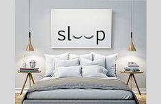 sleep – Bedroom – Printable Poster – Typography Print Black & White Wall Art Poster Print Scandi Art for Bedroom / GuestRoom Schlaf Schlafzimmer druckbare Poster Typografie Print schwarz & Black And White Wall Art, White Walls, Black White, Black Silver, Black Wall Decor, Cute Wall Decor, Cheap Wall Decor, Black Art, Scandi Art