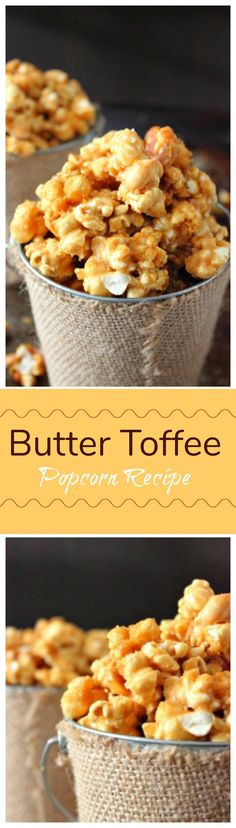 Try Butter Toffee Popcorn Recipe as an awesome snack and to give away for gifts. This is the perfect sweet and salty combination for popcorn. Popcorn Snacks, Popcorn Recipes, Candy Recipes, Holiday Recipes, Snack Mix Recipes, Dessert Recipes, Cooking Recipes, Snack Mixes, Oven Recipes