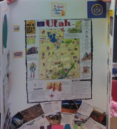 State project States And Capitals, Utah Usa, Gifted Education, 5th Grades, Social Studies, Teaching Ideas, Classroom Ideas, Study, Clouds
