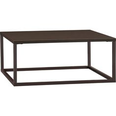 Skye Cocoa Square Coffee Table in Side, Coffee Tables   Crate and Barrel   $199