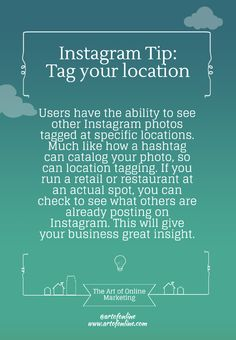 AOM's Instagram tip: Geotagging isn't just for Foursquare and Facebook.
