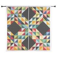 Quilted patchwork Curtains by LoLa - CafePress Patchwork Curtains, Curtain Designs, Kids Rugs, Quilts, Blanket, Home Decor, Decoration Home, Kid Friendly Rugs, Room Decor