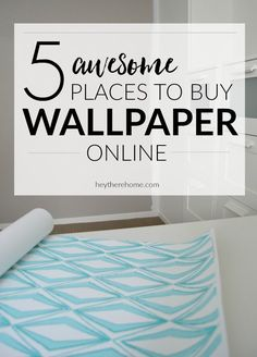 5 awesome place to buy wallpaper online via @heytherehome #walls #walldecor #wallpaper