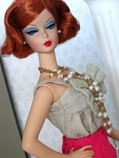Fashion Editor Silkstone Barbie by Poupée Chinoise, via Flickr
