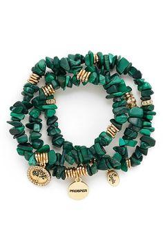 Sequin Stone Stretch Bracelets (Set of 3) | Nordstrom