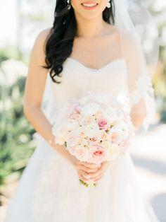 Photography: Honey Honey Photography - www.hoooney.com/  Read More: http://www.stylemepretty.com/2015/05/11/formal-pink-gold-ballroom-wedding/