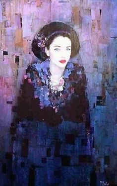Inspired by the art of Gustav Klimt Richard Burlet ? Gustav Klimt, Klimt Art, Richard Burlet, Richard Feynman, Richard Diebenkorn, Figurative Kunst, Art Abstrait, Portrait Art, Portraits