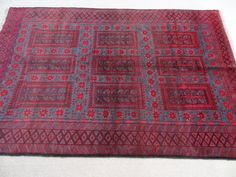 Size:7.7 ft by 5 ft Handmade Rug Afghan Vintage by Carpetsmall
