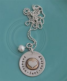 The Vintage Pearl - simple, unique, and sentimental jewelry --- custom handstamped necklaces, bracelets and other keepsakes, that can be customized with any names, dates or words of inspiration.
