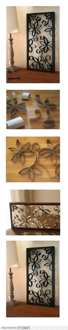 DIY Toilet Paper Roll Wall Decoration DIY Projects | Us… na Stylowi.pl