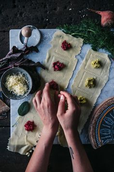 Gluten free ravioli filled with red and yellow beetroot and delicious cheese // our food stories // recipe