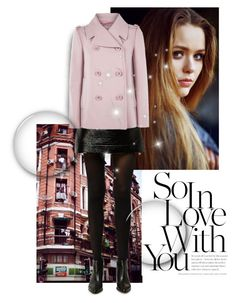"""""""pink coat"""" by nonanana ❤ liked on Polyvore featuring Toni&Guy, MICHAEL Michael Kors and RED Valentino"""
