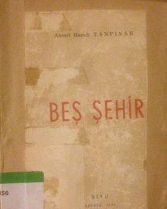 A.H. Tanpınar- Beş Şehir kitabı (İlk Baskı) Ülkü, Ankara 1946 Kitap temizdir. İlk baskıdır. Tanpınar severler ve Koleksiyon yapanlar için kaçırılmayacak bir fırsat.  Satmayı düşünüyorum.