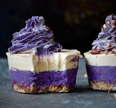 Blueberry, Macqui & White Chocolate Cheesecakes - Rachael Campbell