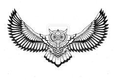 Owl chest tattoo design by lahnakuningas.deviantart.com on @deviantART ...