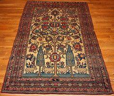 """Persian """"Kerman Lavar"""" rug"""