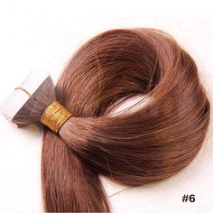 Brown tape hair extensions last 6 9 months and are reusablewe 10 30 inch tape in human hair extensions 6 light brown straight 20 pcs pmusecretfo Image collections