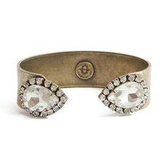 Cuff in Crystal. #bracelets