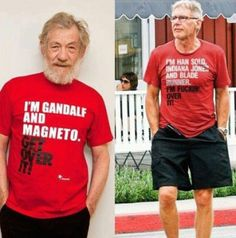 Ian McKellen and Harrison Ford for  'Some People Are Gay - Get Over It' campaign