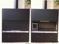 Pergola Against House Key: 6357107045 Pergola Images, Pergola Designs, Parrilla Interior, Barbecue, Argentine Grill, Bbq Places, Pergolas For Sale, Porch Area, Pergola Curtains
