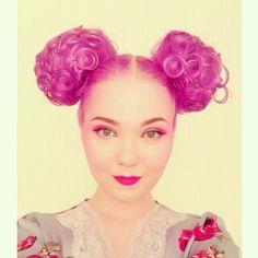 @Kelsey Myers Myers Myers Myers hartley | hora de oro // golden hour Deere & her purple bun ears!