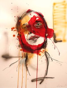 AB; 50x65cm  Mixed media on paper; Lou Ros 2011