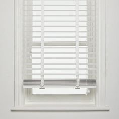 wooden white venetian blinds