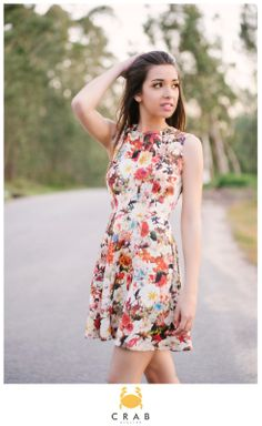 Vestido Godé florido