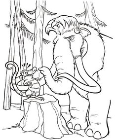 Eddie And Crash Hanging Upside Down On Tree In Ice Age