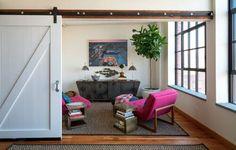 Purple dominated living room. #furniture, #interiors