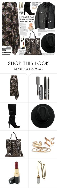 """Senza titolo #2285"" by aanyaa ❤ liked on Polyvore featuring Preen, Bobbi Brown Cosmetics, Gianvito Rossi, Bao Bao by Issey Miyake, Chanel, Lacey Ryan and Kenneth Jay Lane"