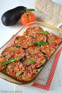 Tomate sans graines - Cuisine bio et green attitude !: Gratin d'aubergines au riz complet