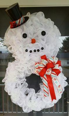 Snowman wreath by Cindy