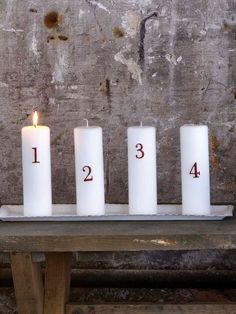 Scandinavian Red Advent Candle Pins