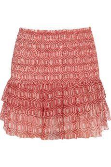 Étoile Isabel Marant Zelia printed silk-chiffon mini skirt | NET-A-PORTER