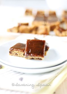 Caramel Blondies - Savoring Spoon — #vegan